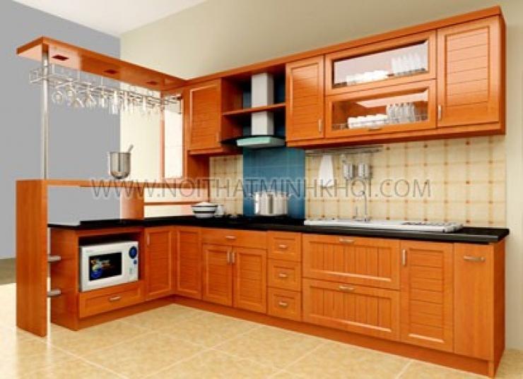 Xu hướng sử dụng tủ bếp gỗ tự nhiên