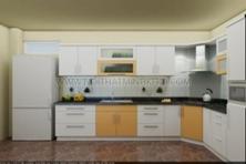 Tủ Bếp MDF Màu Trắng Đẹp | Nội Thất Minh Khôi