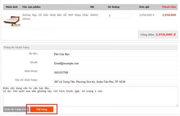 Quy trình mua hàng Online tại Nội Thất Minh Khôi