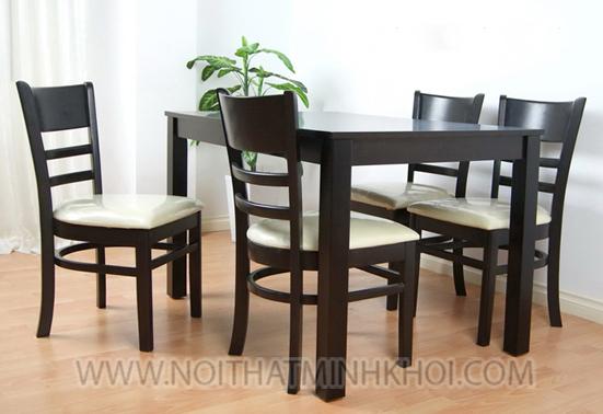 bộ bàn ăn màu đen