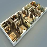 duyệt thiết kế nội thất 3d