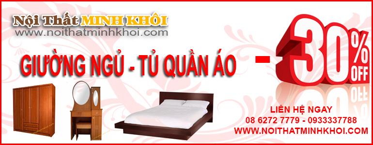 giường ngủ tủ quần áo -30%