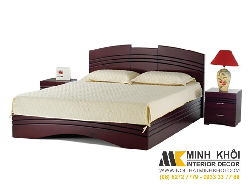 Giường Ngủ Gỗ Xoan Đào Hiện Đại Màu Trắng GN420