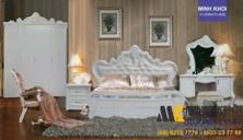 Bộ Phòng Ngủ Cổ Điển Màu Trắng Đẹp Giá Rẻ Tại TPHCM