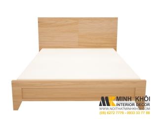 Giường Ngủ Giá Rẻ Gỗ Gông Nghiệp MDF Vân Sồi - Rẻ Hơn 35% Thị Trường