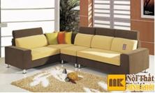 Ghế Sofa Vải Màu Nâu Vàng Nổi Bật