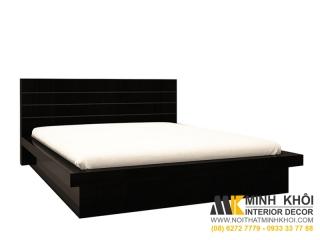 Giường Ngủ Kiểu Nhật Màu Đen Gỗ Xoan Đào Tự Nhiên 1m6