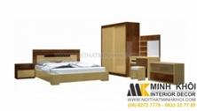 Bộ Phòng Ngủ Hiện Đại Vân Sồi Vàng Đẹp Giá Rẻ Tại TPHCM