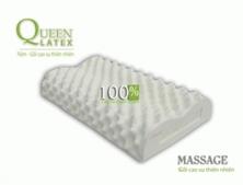 Gối Nằm Cao Su Oval Massage Vạn Thành 12x37x58cm