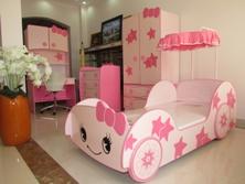 Bộ Phòng Ngủ Trẻ Em Màu Hồng Cho Bé Gái BPN022