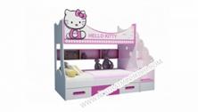 Giường Tầng Trẻ Em Màu Hồng Mèo Kitty FCH135N