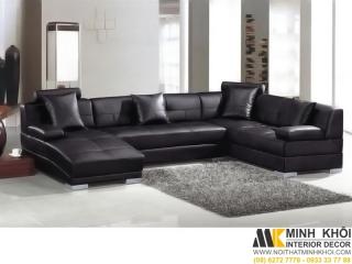 Sofa Da Đẹp Hiện Đại F3714 | Nội Thất Minh Khôi