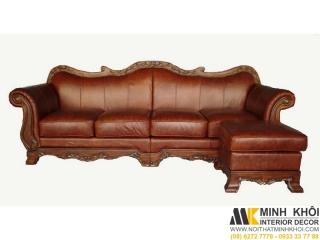 Sofa Da Cổ Điển F3716 | Nội Thất Minh Khôi