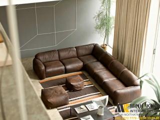 Sofa Da Cổ Điển F3750 | Nội Thất Minh Khôi