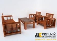 Sofa Gỗ Xoan Đào Tự Nhiên 1m75 Đẹp Giá Rẻ TPHCM