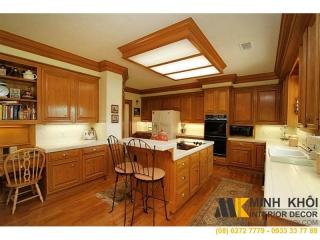Tủ Kệ Bếp Gỗ Tự Nhiên Màu Vàng KB1275