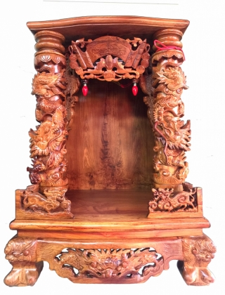 Bàn thờ thần tài ô địa gỗ hương 68 x 108cm BTTT511