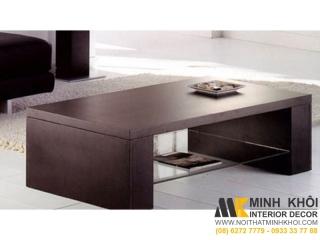 Bàn Trà Sofa MDF Màu Nâu Chữ U Ngược | Nội Thất Minh Khôi
