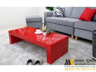 Bàn Trà Sofa Chữ U Màu Đỏ | Nội Thất Minh Khôi
