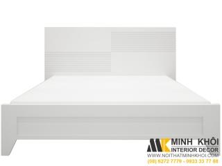 Giường ngủ hiện đại giá re mdf sơn trắng