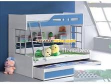Giường Tầng Trẻ Em Màu Trắng Xoan Đào 1m GT219 | Nội Thất Minh Khôi