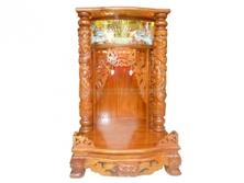 Bàn Thờ Thần Tài Gỗ Xoan Đào Có Hộp Đèn 60 x 98cm BTTT408