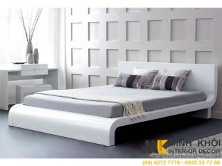 Giường Ngủ Gỗ Xoan Đào Đẹp Hiện Đại Màu Trắng GN420