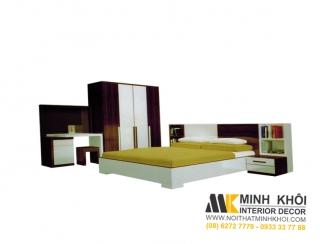 Bộ Giường Tủ Bàn Trang Điểm Phòng Ngủ Cao Cấp BPN009 | Nội Thất Minh Khôi