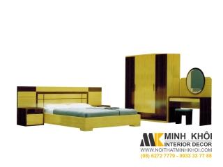 Bộ Phòng Ngủ Cao Cấp Có Giường Tủ Bàn Trang Điểm BPN010 | Nội Thất Minh Khôi