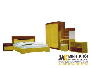 Bộ Phòng Ngủ Gồm Giường Tủ Bàn Phấn Kệ Giầy Dép BPN011 | Nội Thất Minh Khôi