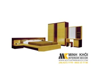 Bộ Phòng Ngủ Gồm Giường Tủ Bàn Phấn BPN012 | Nội Thất Minh Khôi