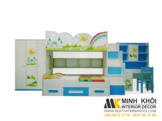 Bộ Phòng Ngủ 7 Sắt Cầu Vòng Đẹp Cho Bé  BPN022 | Nội Thất Minh Khôi