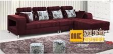 Ghế Sofa Nỉ Góc L Màu Nâu Đỏ Đẹp Giá Rẻ TPHCM