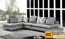 Ghế Sofa Nỉ Góc L Màu Ghi Sang Trọng
