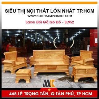 Bàn Ghế Phòng Khách Gỗ Gõ Đỏ Cao Cấp - SL952