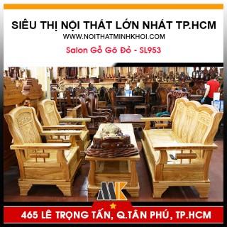 Bộ Bàn Ghế Gỗ Gõ Cao Cấp - SL953