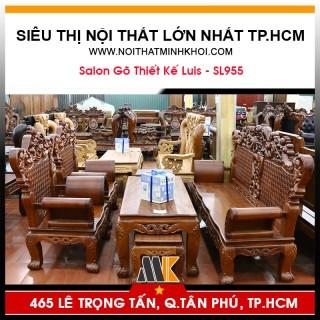 Bộ Bàn Ghế Salon Phòng Khách Mẫu Luis - SL955