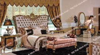 Bộ phòng ngủ tân cổ điển hoàng gia nước Ý sang trọng, lộng lẫy