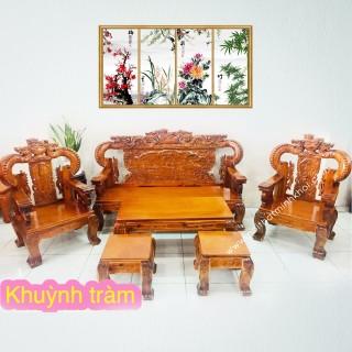 Bộ Salon Gỗ Chạm Rồng Khuỳnh - SL906