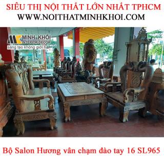 Bộ Salon Hương Vân Chạm Đào Tay 16 - SL965