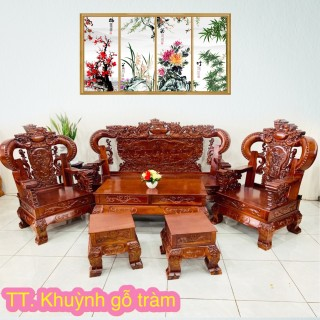 Bộ Salon Phòng Khách 6 Món gỗ tự nhiên - SL908