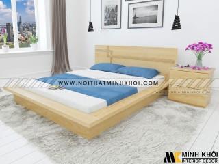 Giường Ngủ Đẹp Kiểu Nhật Màu Gỗ Sồi - GN913