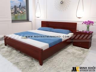 Giường Ngủ Đẹp Màu Nâu Cánh Gián Gỗ MDF-GN901