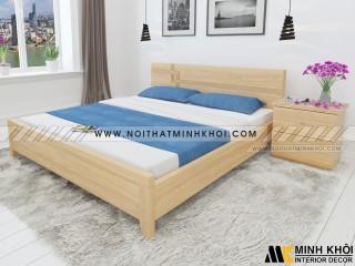 Giường Ngủ Gỗ Công Nghiệp MDF Màu Sồi - GN911