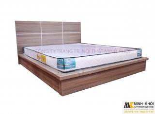 Giường ngủ gỗ công nghiệp MFC kiểu nhật hiện đại