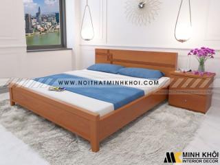 Giường Ngủ Hiện Đại Màu Gỗ Xoan Đào Chất Liệu MDF-GN902