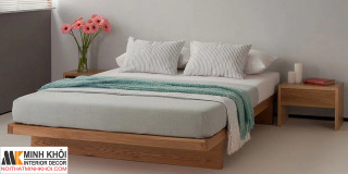 Giường Ngủ Kiểu Nhật Gỗ Sồi Đầu Đuôi Bằng Nhau-GN1022