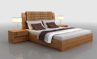 Giường Sồi Tự nhiên đẹp