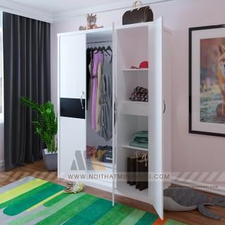 Mẫu tủ quần áo 3 cánh thiết kế hiện đại 2019