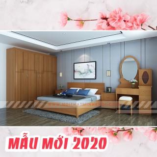 Nội Thất Phòng Ngủ Đẹp Trọn Bộ Màu Gỗ Xoan Đào - BPN900